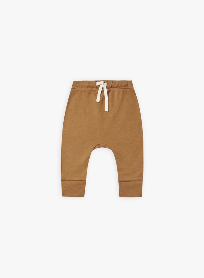 Quincy Mae - drawstring pants, walnut