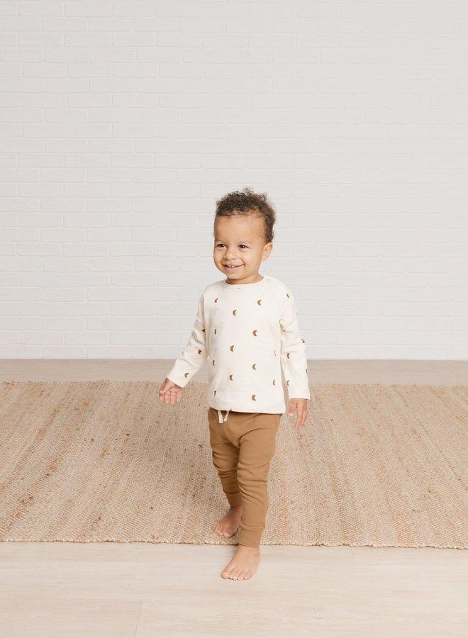 Quincy Mae - longsleeve baby tee, natural moons