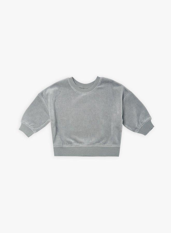 Quincy Mae - Drop Shoulder Sweatshirt, dusty blue