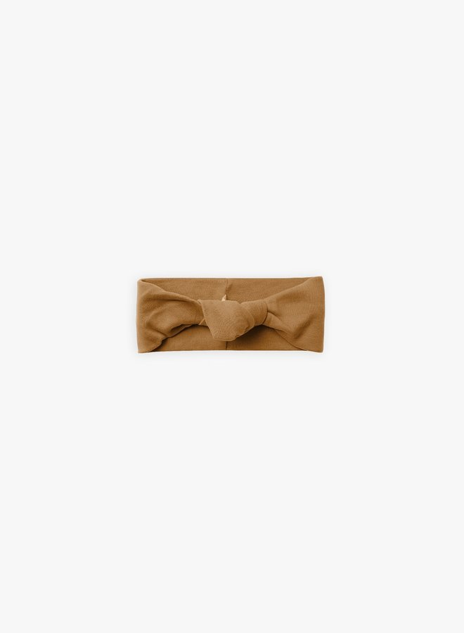 Quincy Mae - Knotted Headband, walnut (0-12M)