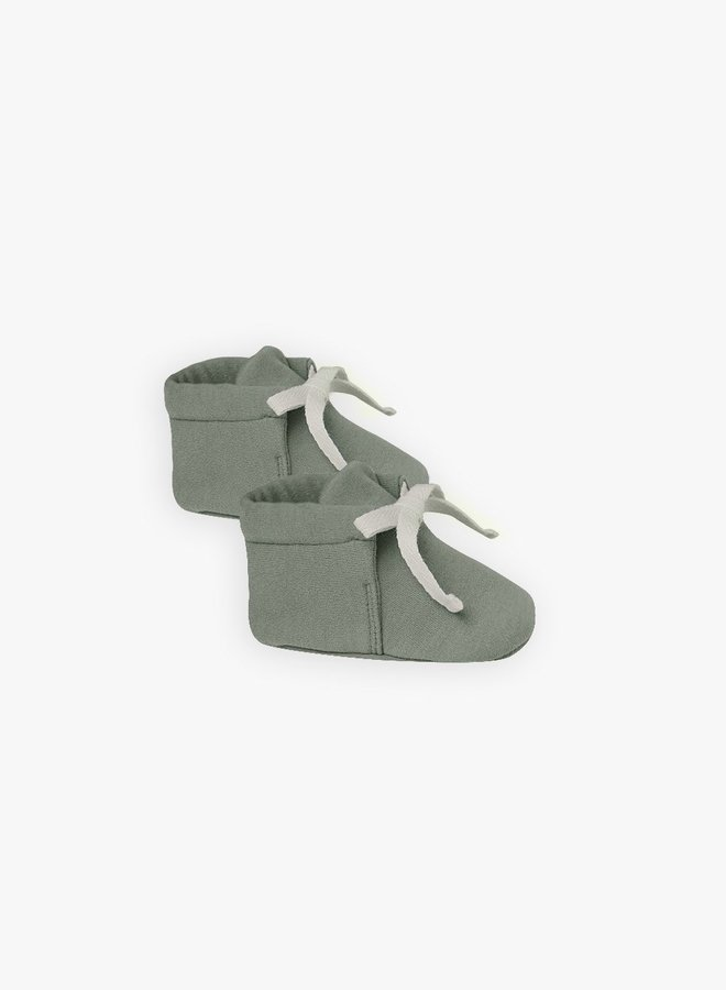 Quincy Mae - Baby Booties, basil