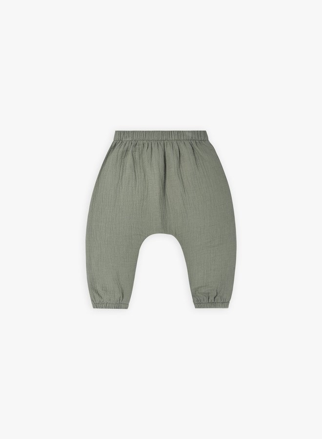 Quincy Mae - Woven pant, basil