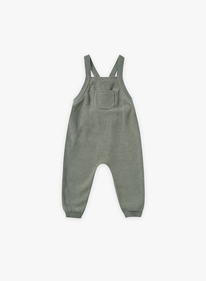 Quincy Mae - Knit Overalls, basil