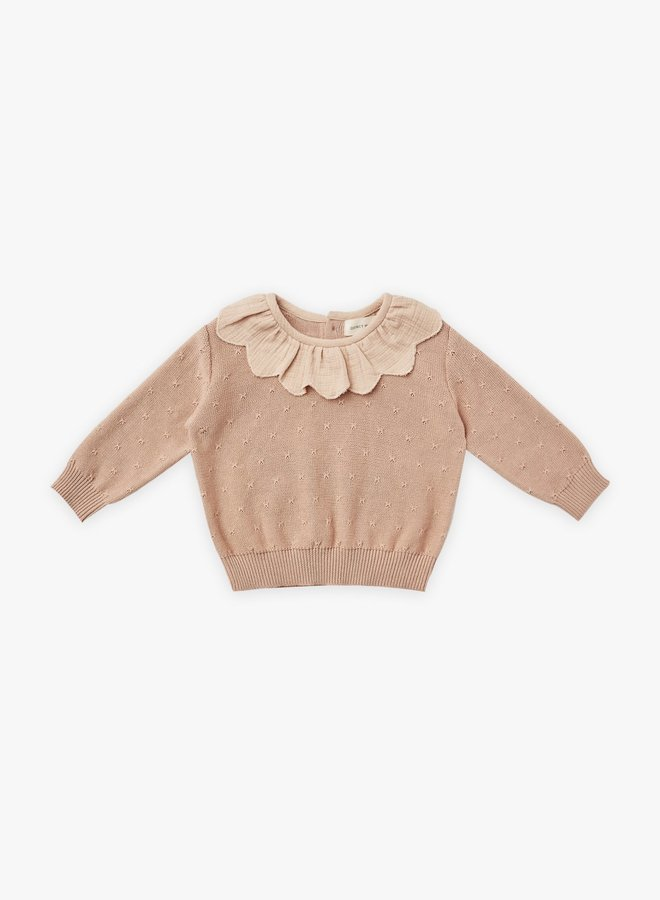 Quincy Mae - Petal Knit Sweater, petal