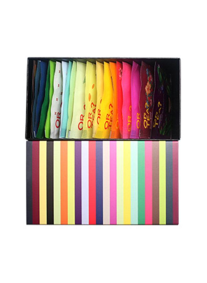 Or Tea? Rainbow Box - Combo de dégustation (44g / 20 sachets dans 20 saveurs différentes)