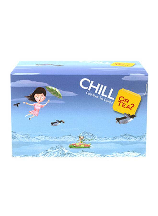 Or Tea? CHILL Box – Cold Brewed Tea Combo (44g / 20 zakjes in 5 verschillende smaken)