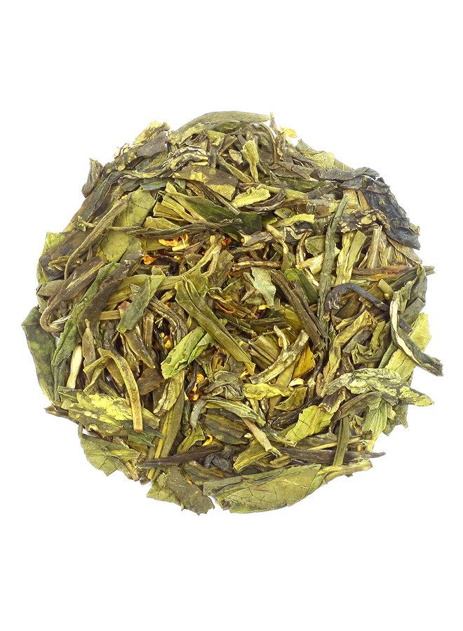 Or Tea? Dragon Well with Osmanthus - Groene Thee met Bloemblaadjes (90g) losse thee
