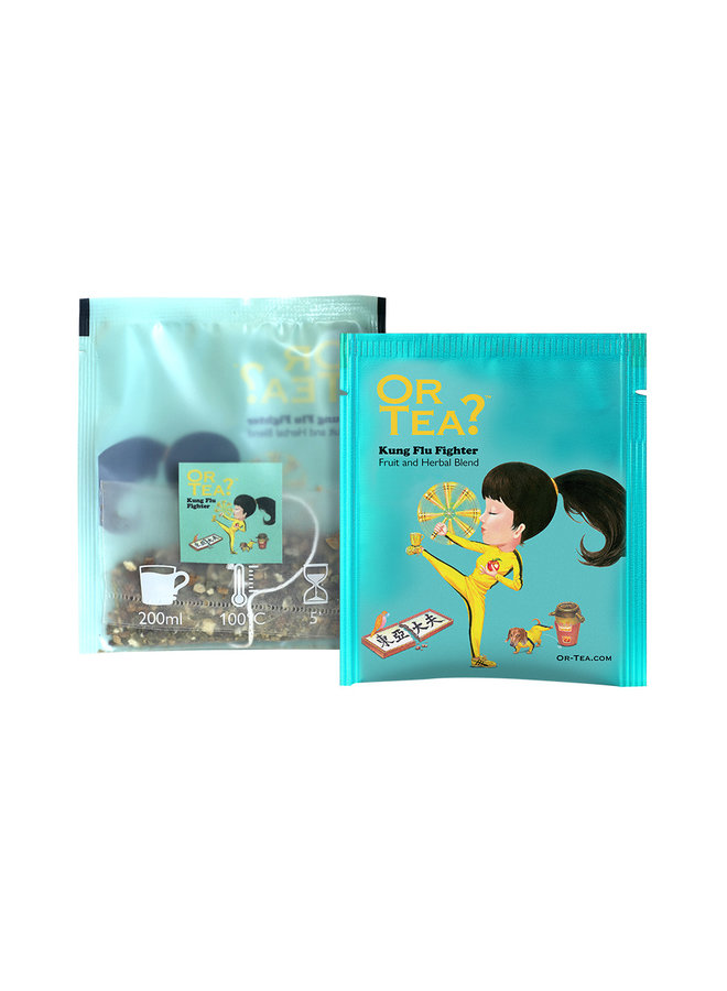 Or Tea? Kung Flu Fighter - Green Tea with Herbal Infusion (20g)