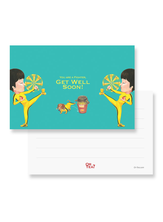 Organic Kung Flu Fighter Tea2theworld - You are a fighter,  get well soon (1 Sachet)