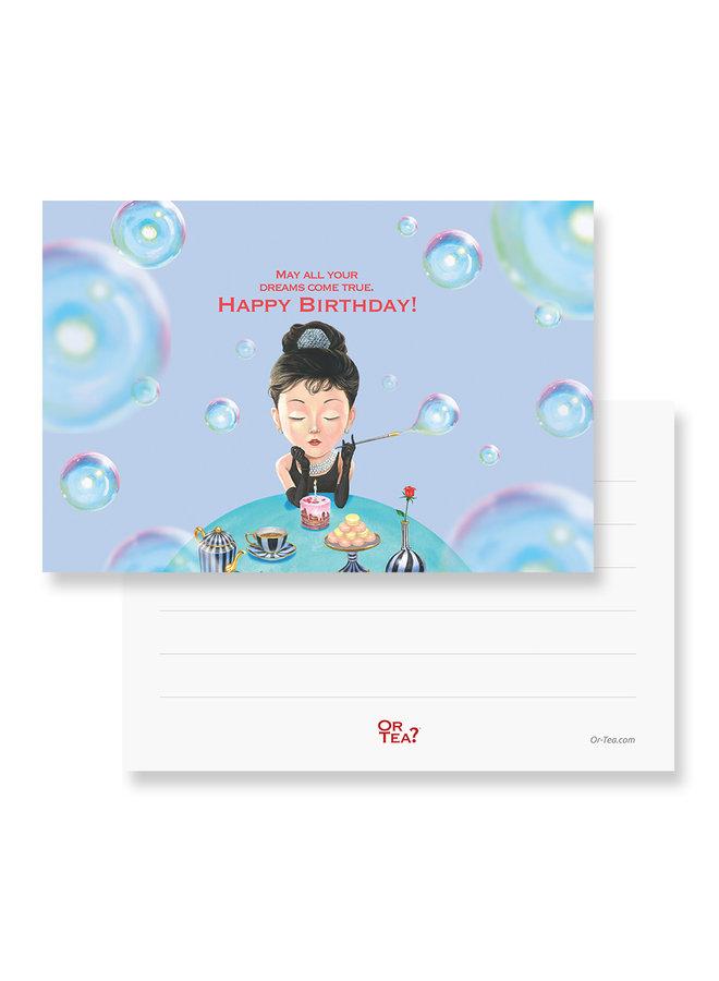 Organic Tiffany's Breakfast Tea2theworld - May all your dream come true, happy birthday (1 sachet)