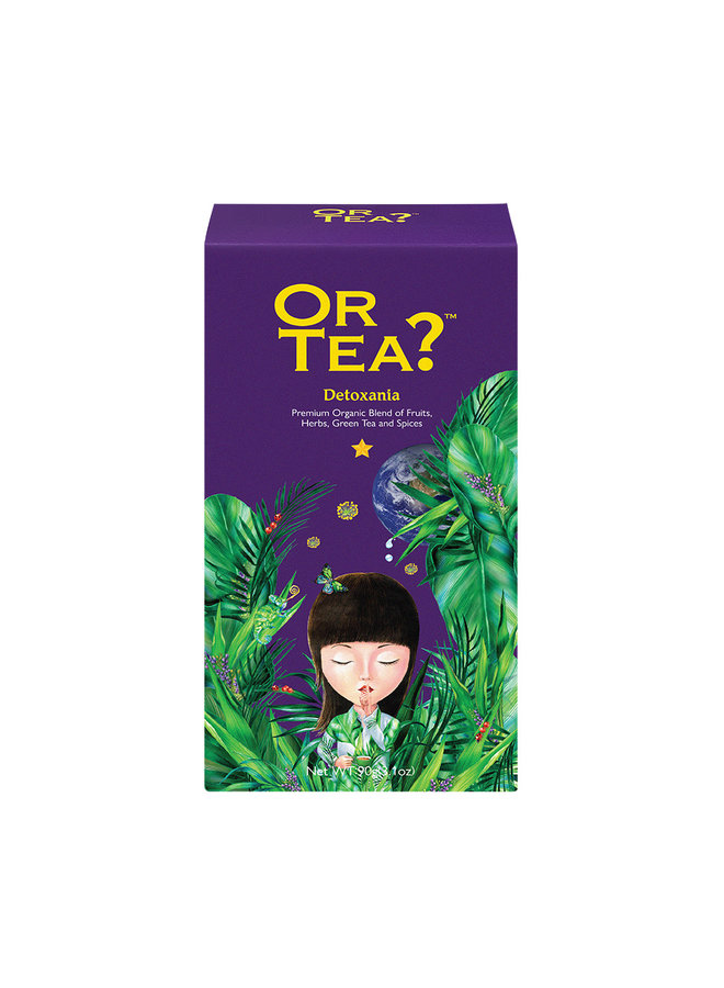 Or Tea? Detoxania - Green Tea with Herb & Fruit Infusion refill pack (90g) loose tea