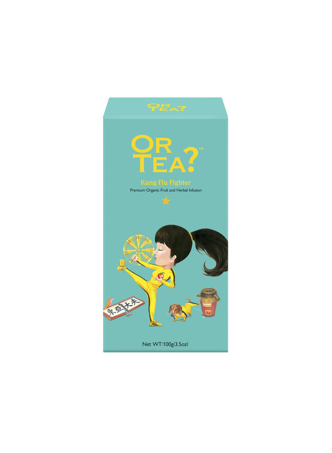 Or Tea? Kung Flu Fighter - Green Tea with Herbal Infusion refill pack (100g) loose tea