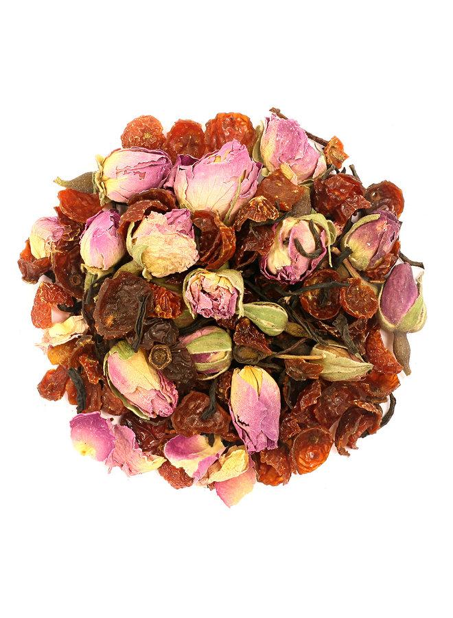 Or Tea? La Vie en Rose - Thé noir à la rose recharge pack (75g) thé en vrac