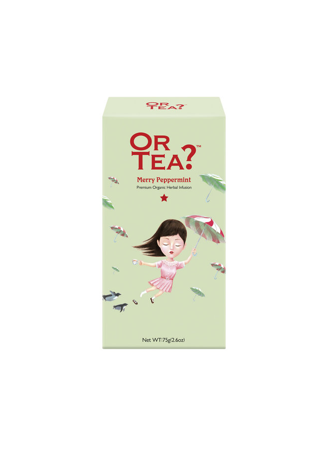 Or Tea? Merry Peppermint - Herbal Infusion Refill Pack  (75g) loose tea