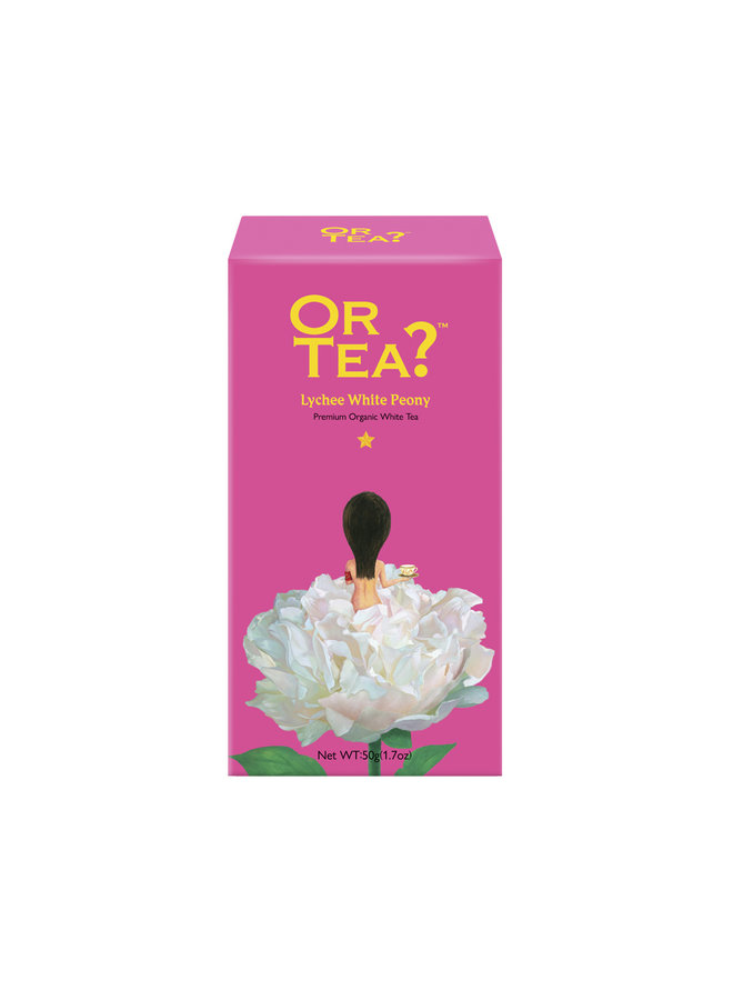 Or Tea? Lychee White Peony - Lychee Flavoured White Tea refill pack (50g) loose tea