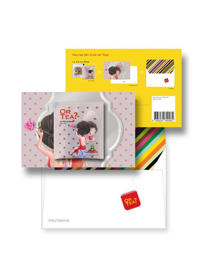 Or Tea? La Vie en Rose Tea2theworld - You are my cup of tea (postcard with 1 sachet)