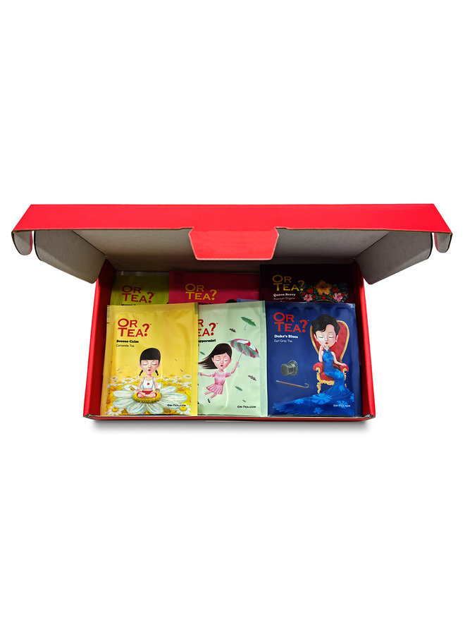 Tea2TheWorld Mailer- Mailable Tea Box: Your message and 10 cups of specialty tea