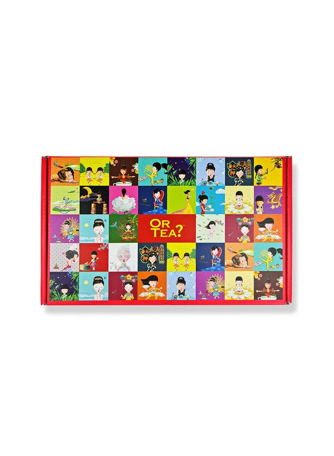 Tea2TheWorld Mailer- Mailable Tea Box: Jouw boodschap en 10 kopjes thee