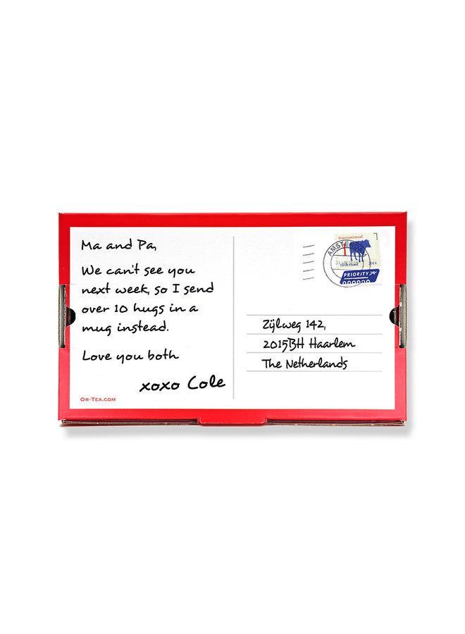Or Tea? Tea2TheWorld Mailer- Boîte de thé à envoyer par courrier : Votre message et 10 tasses de thé de spécialité