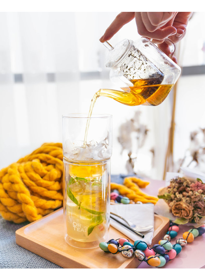Or Tea? Glassier™ - Verre à double paroi avec filtre à glace