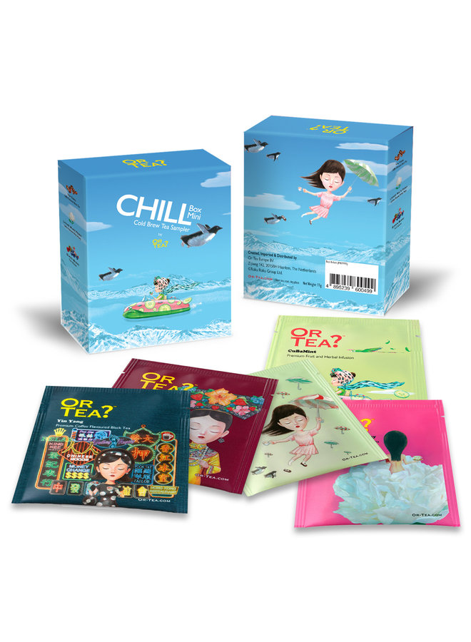 Or Tea? CHILL Box Mini - Cold Brew Tea Sampler (box with 5 different sachets - 11g)