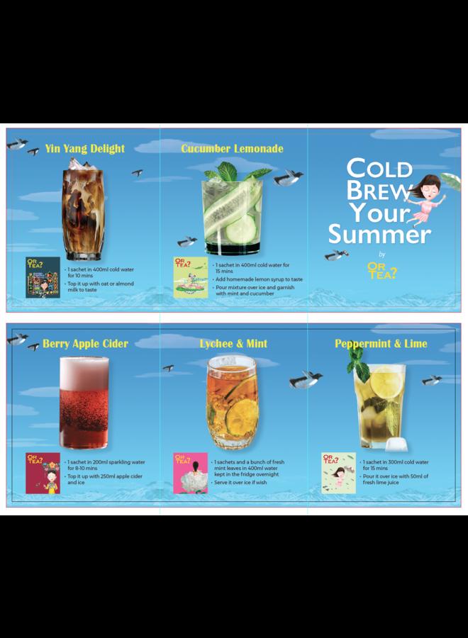 CHILL Box – Cold Brewed Tea Combo (44g / 20 zakjes in 5 verschillende smaken)