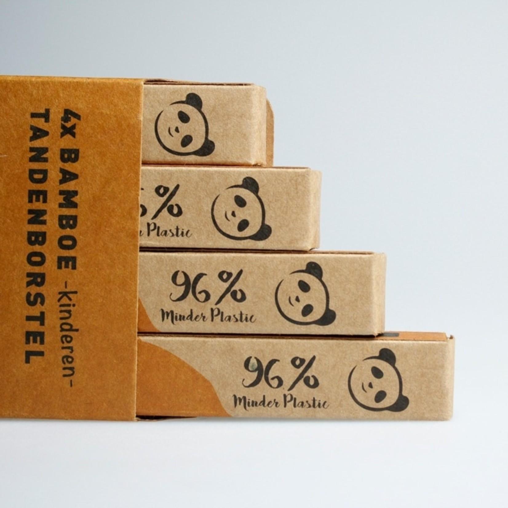Bamboe tandenborstel setje voor kinderen