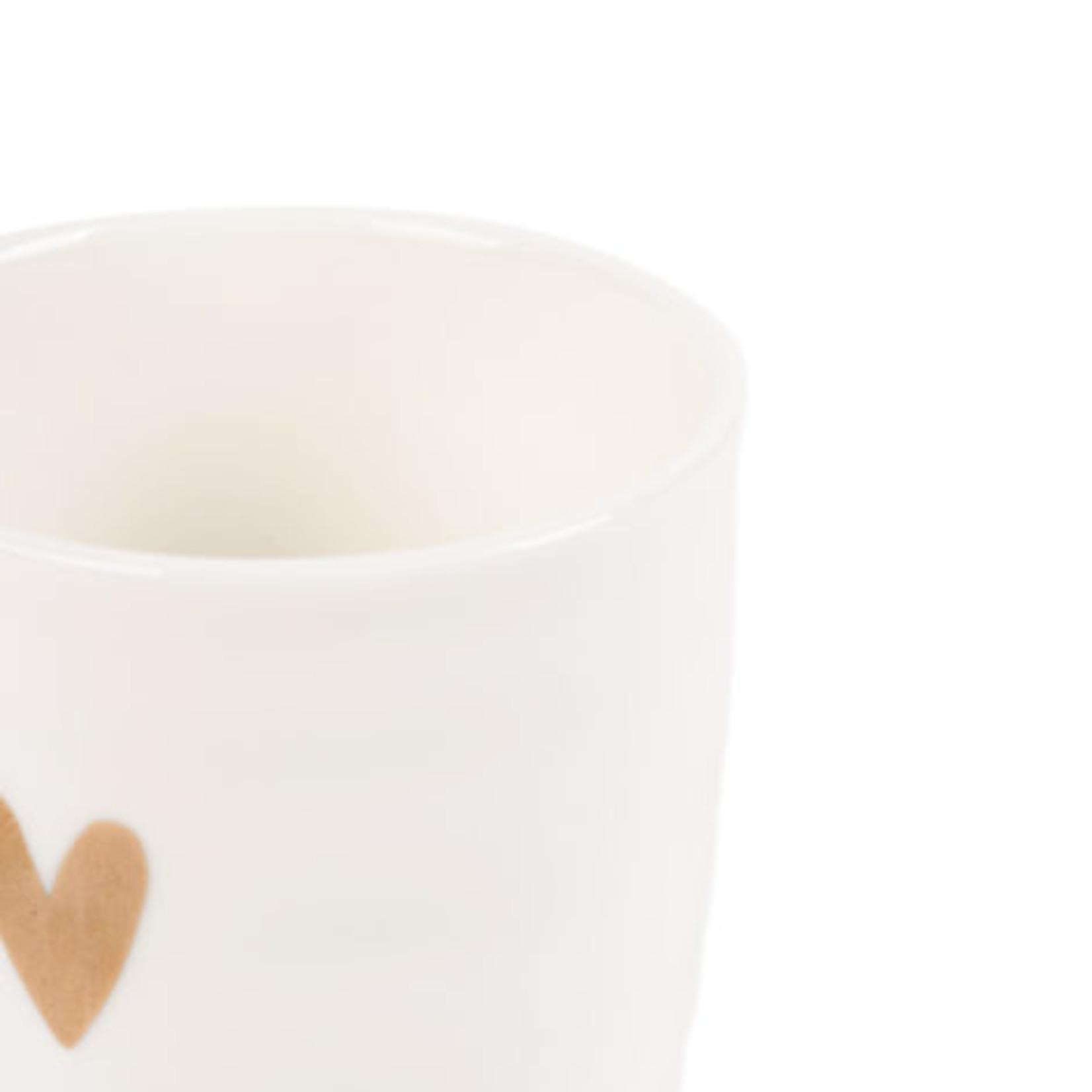 Zusss Espressokopje - Goud hartje - Wit
