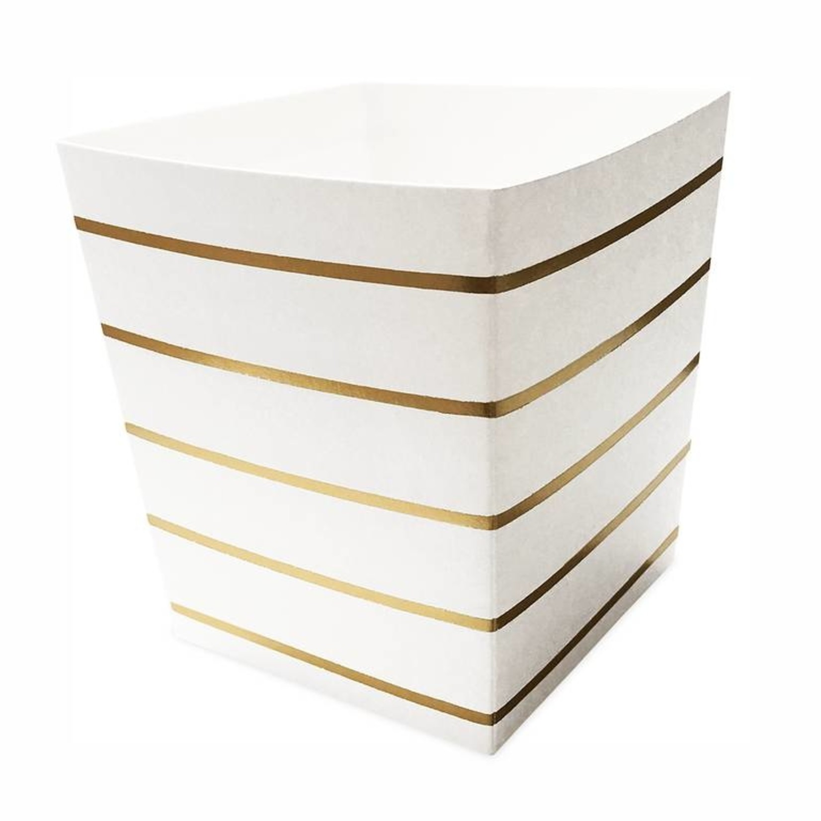 Food cups - Striped - White/gold
