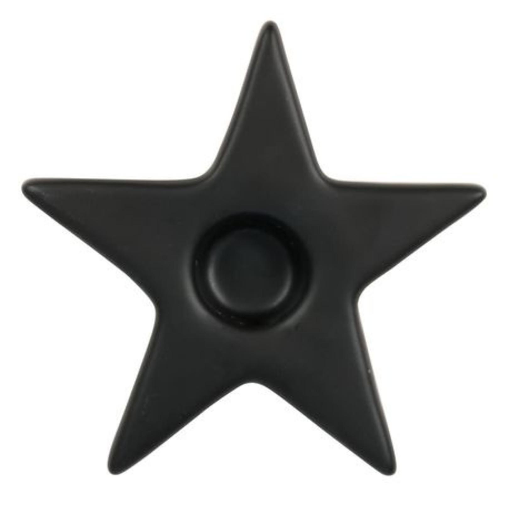 Zusss Kandelaar - Ster - Zwart