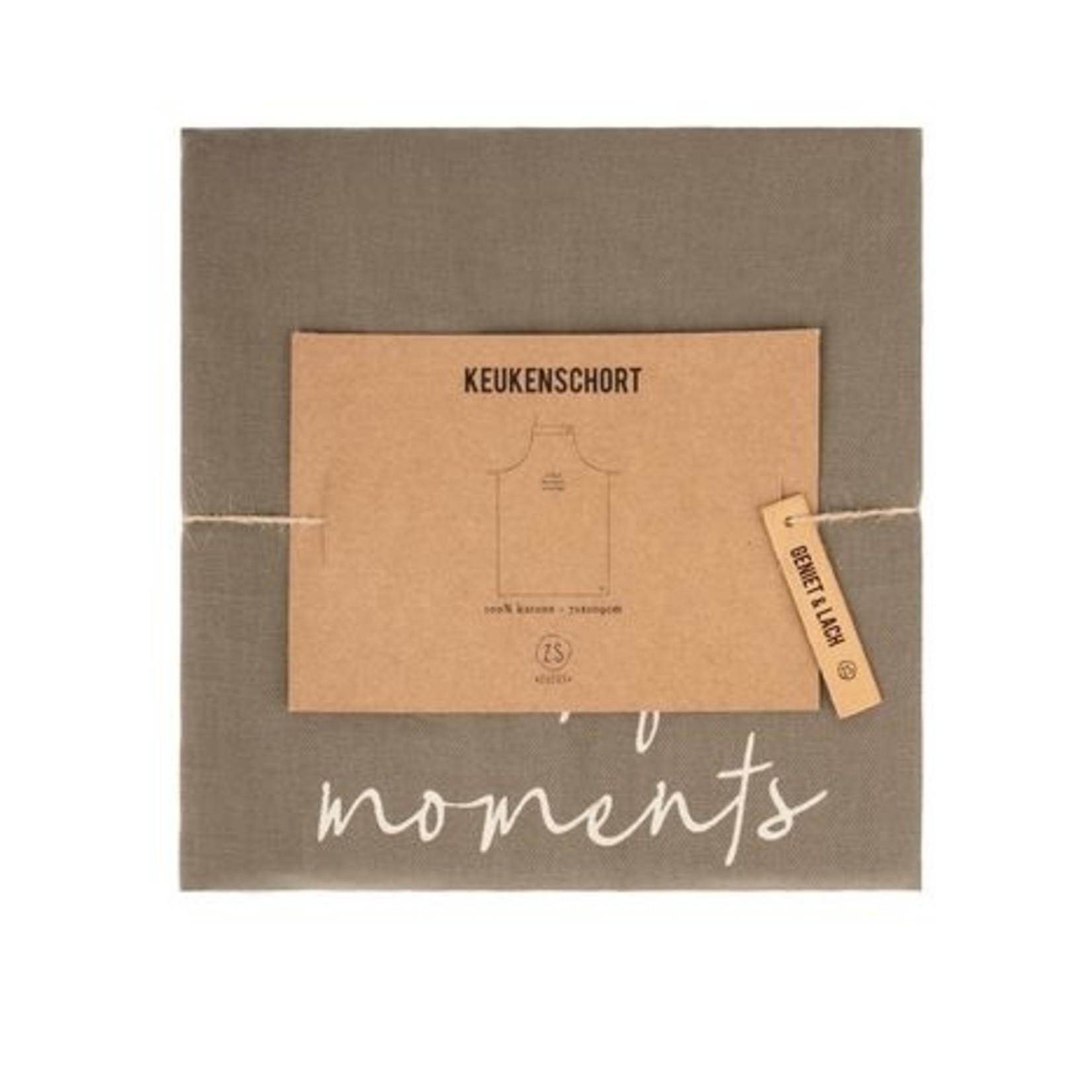 "Keukenschort ""Collect beautiful moments"" - Donkergroen"