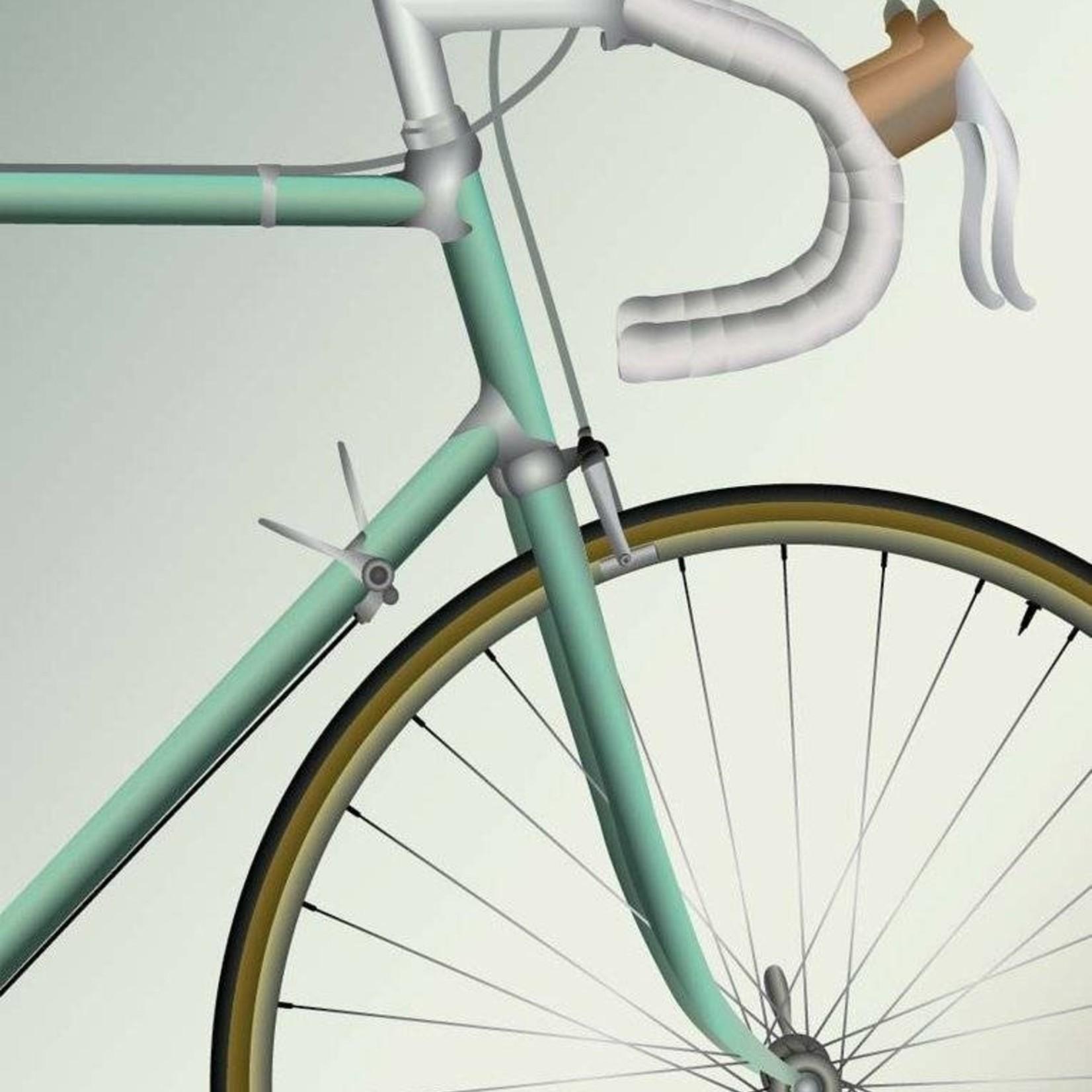 Vissevasse Poster - Racing Bicycle - 2 maten