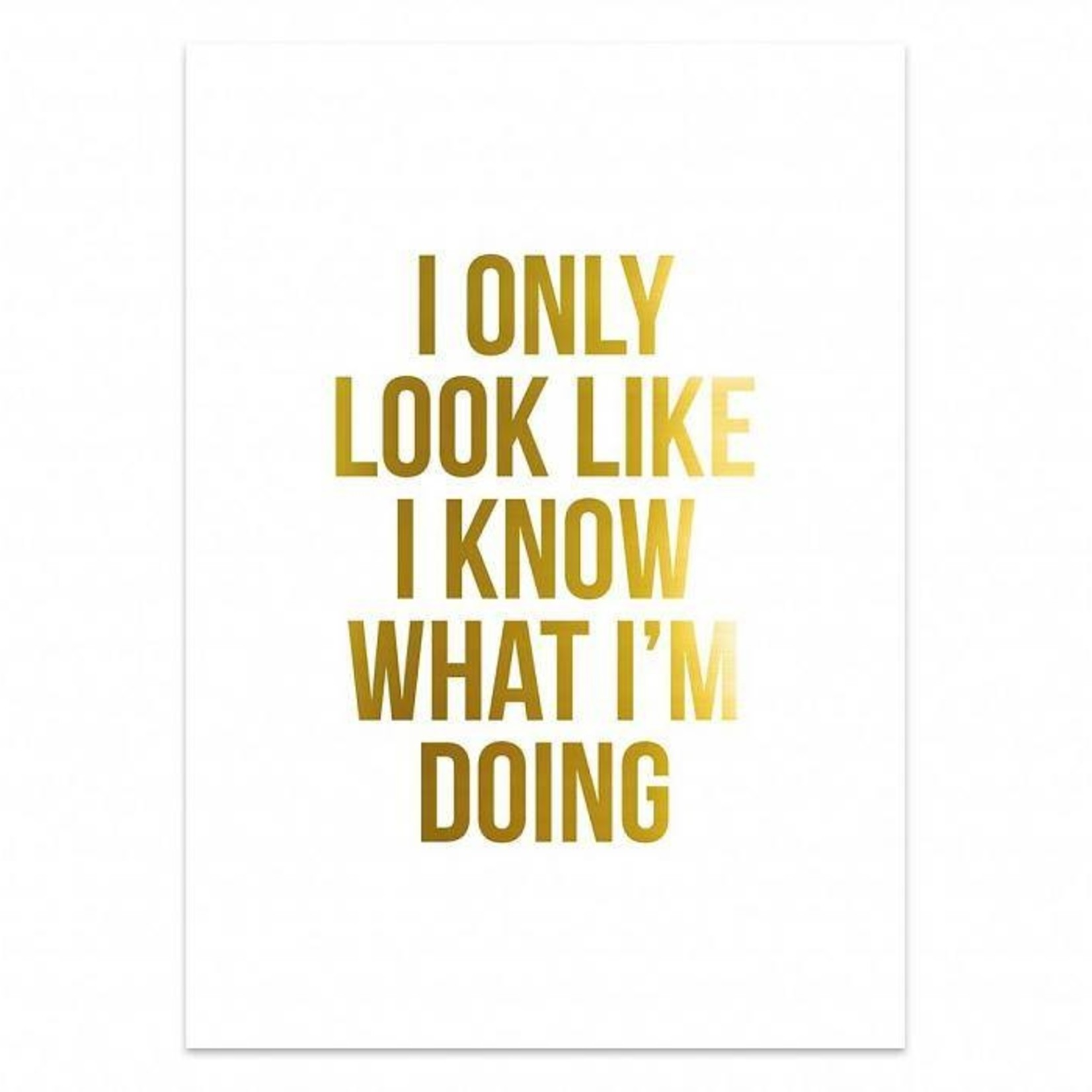 Poster - White gold