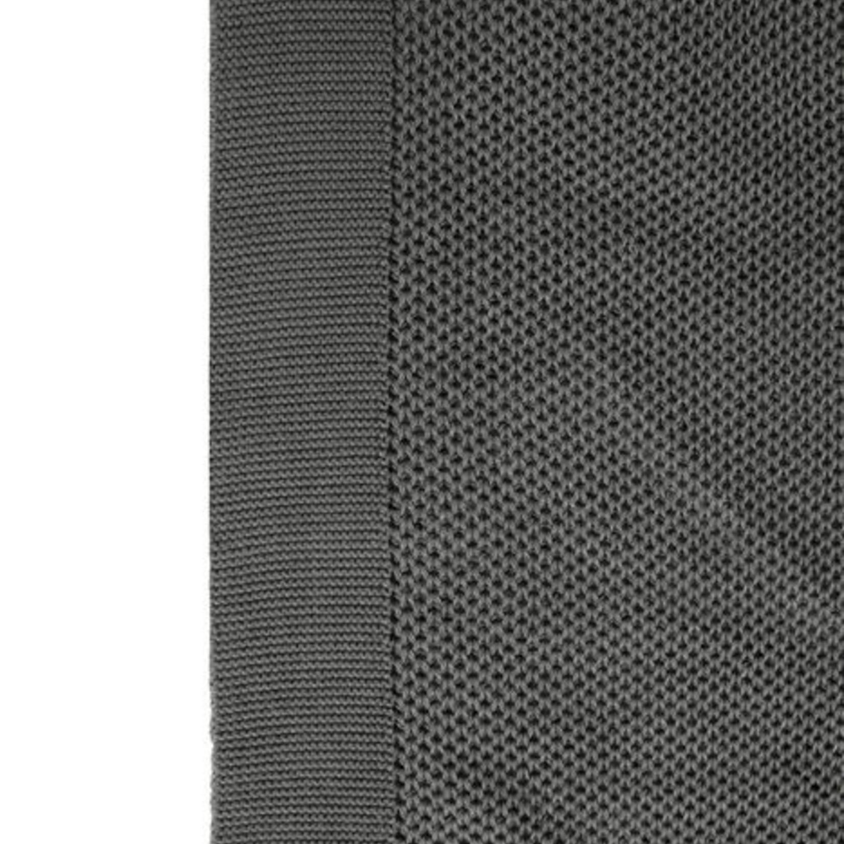 Zusss Plaid met kwastjes - Grafietgrijs - 130x170cm