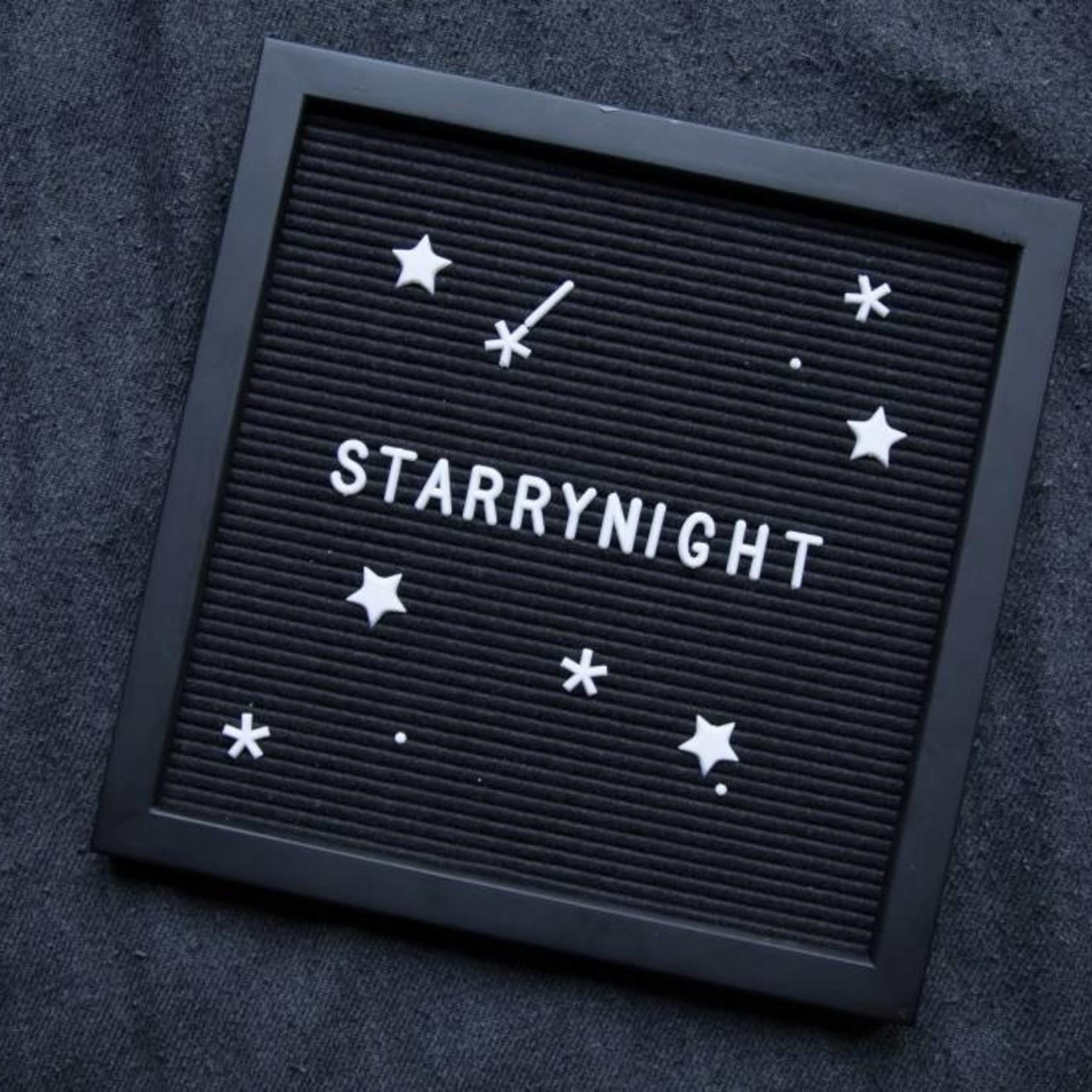 Letterbord zwart met zwarte kader