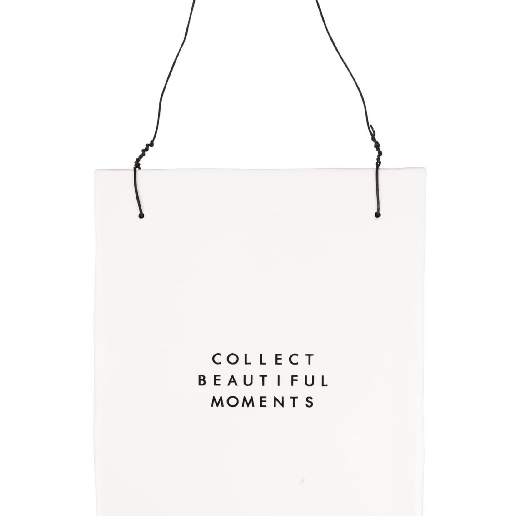 "Zusss Tekst tegeltje ""Collect beautiful moments"""