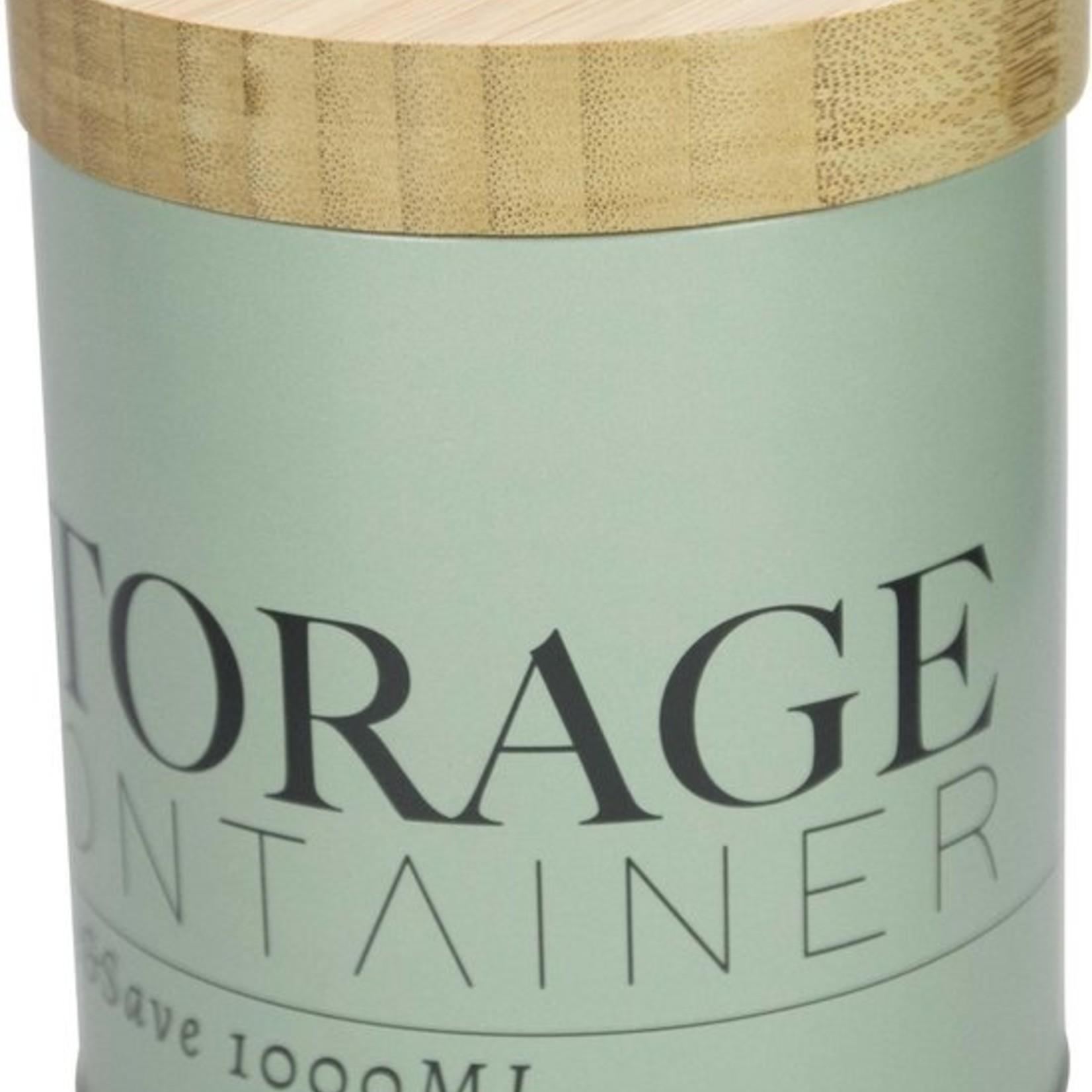Storage container 1000ml - Groen - Gusta