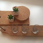 3D Cork Serveerplank - Kurk - Lang smal