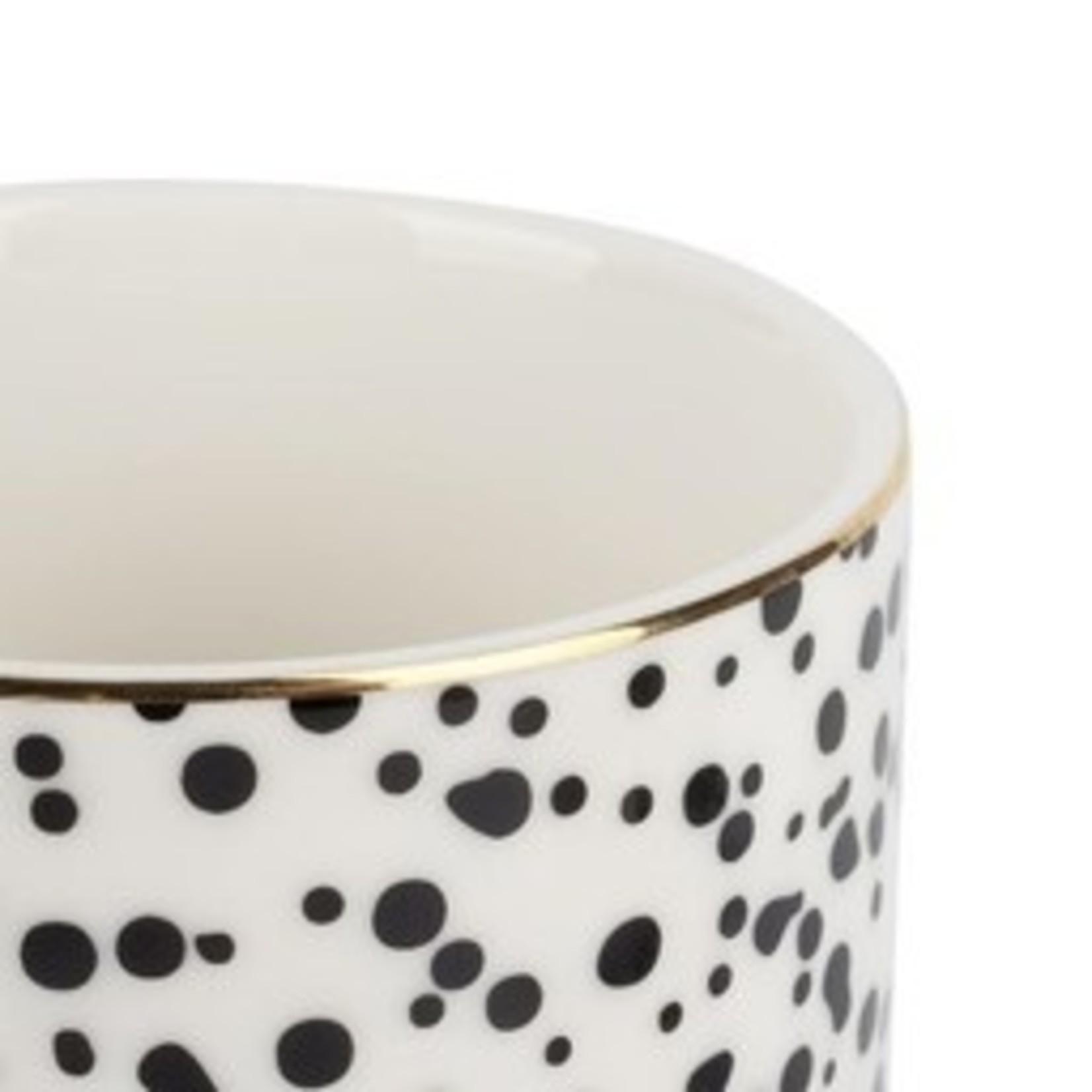 Koffiemok spikkels/goud Zusss