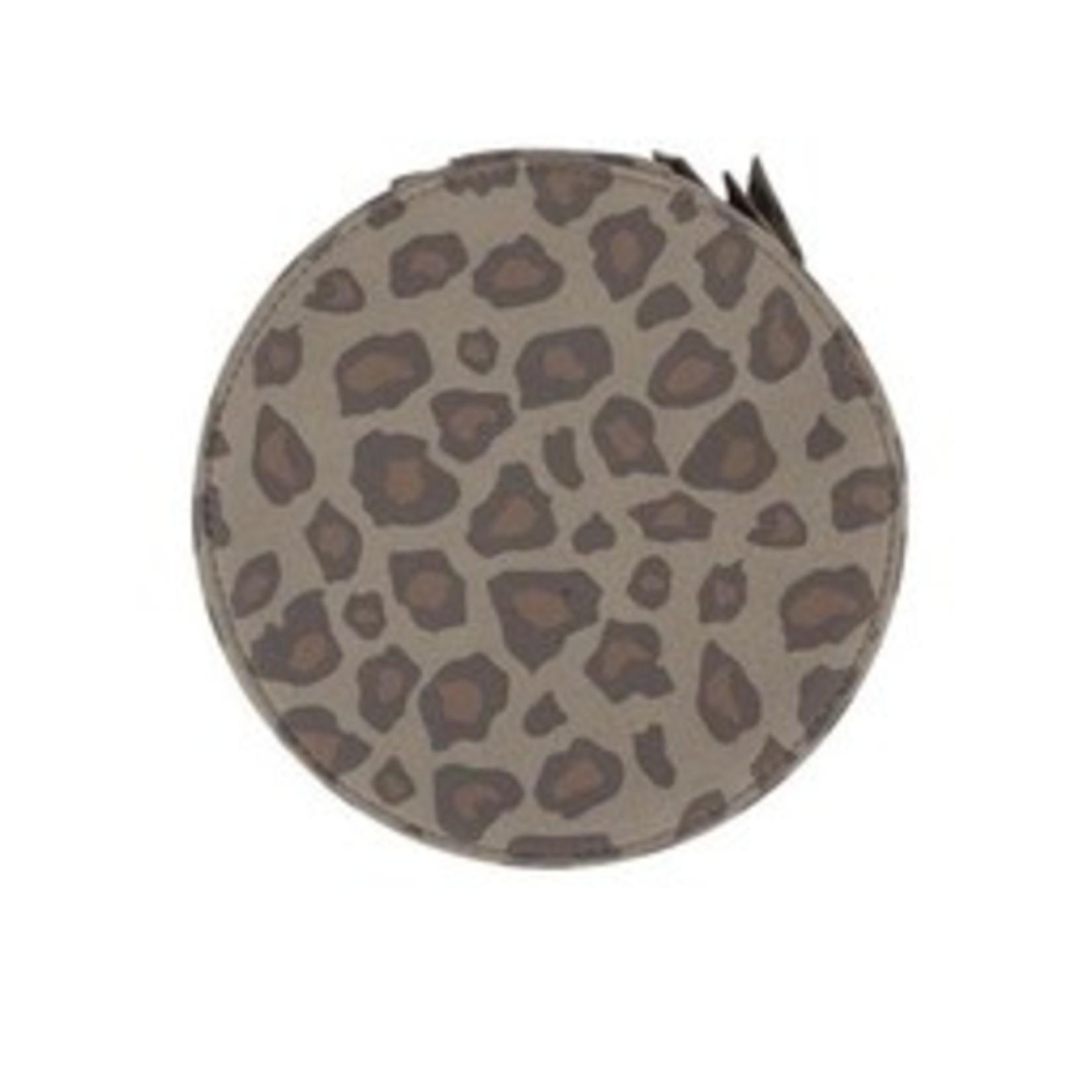 Zusss Make-up tasje - Rond - Leopard