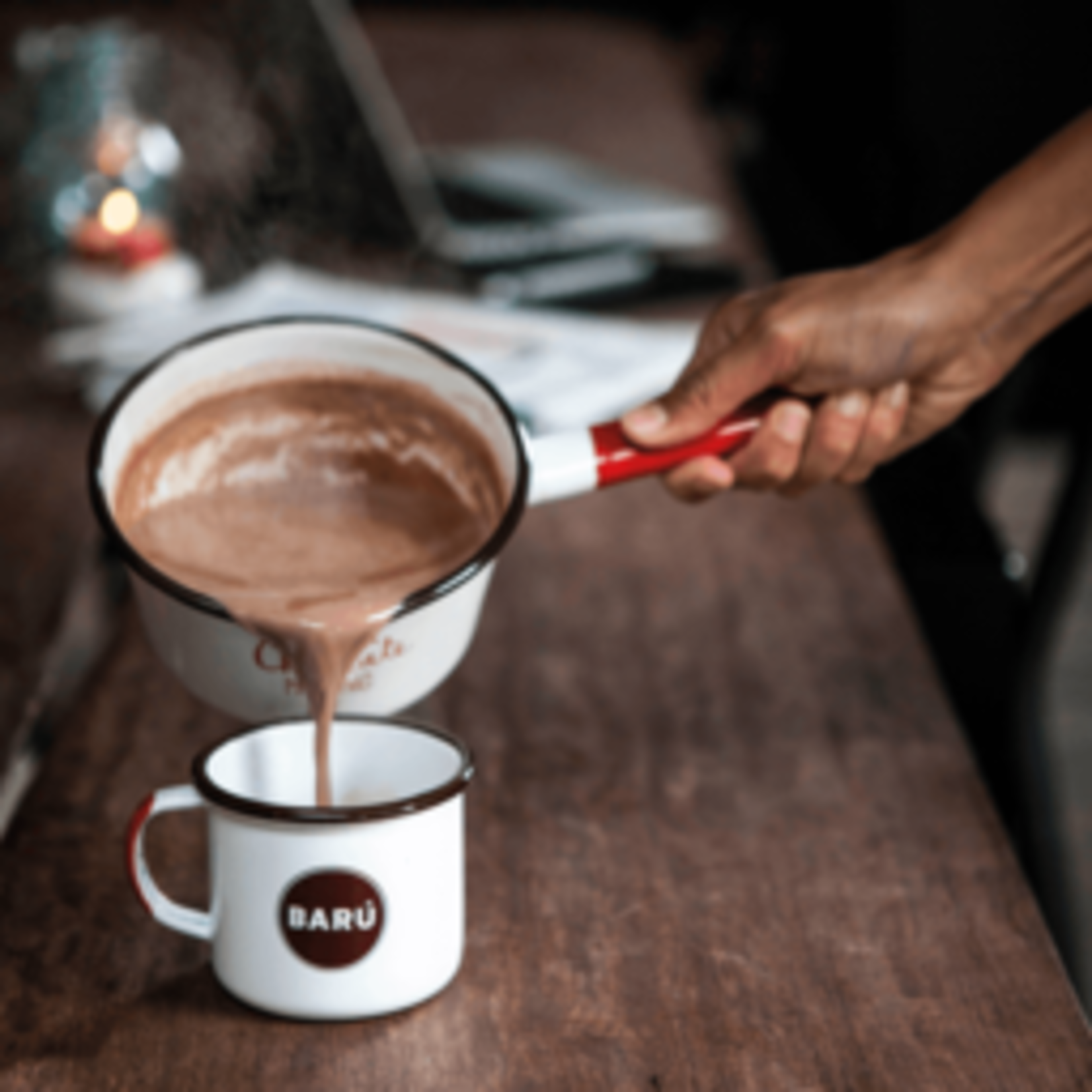 Barú Swirly hot chocolate powder