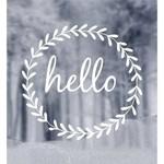 Raamsticker - Hello