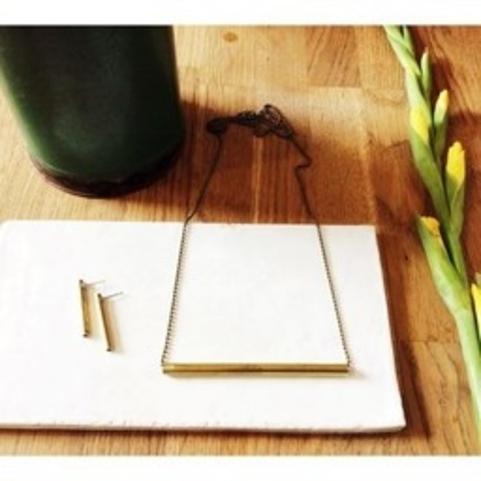 Inimini Homemade Ketting - Brass - Small - Bar
