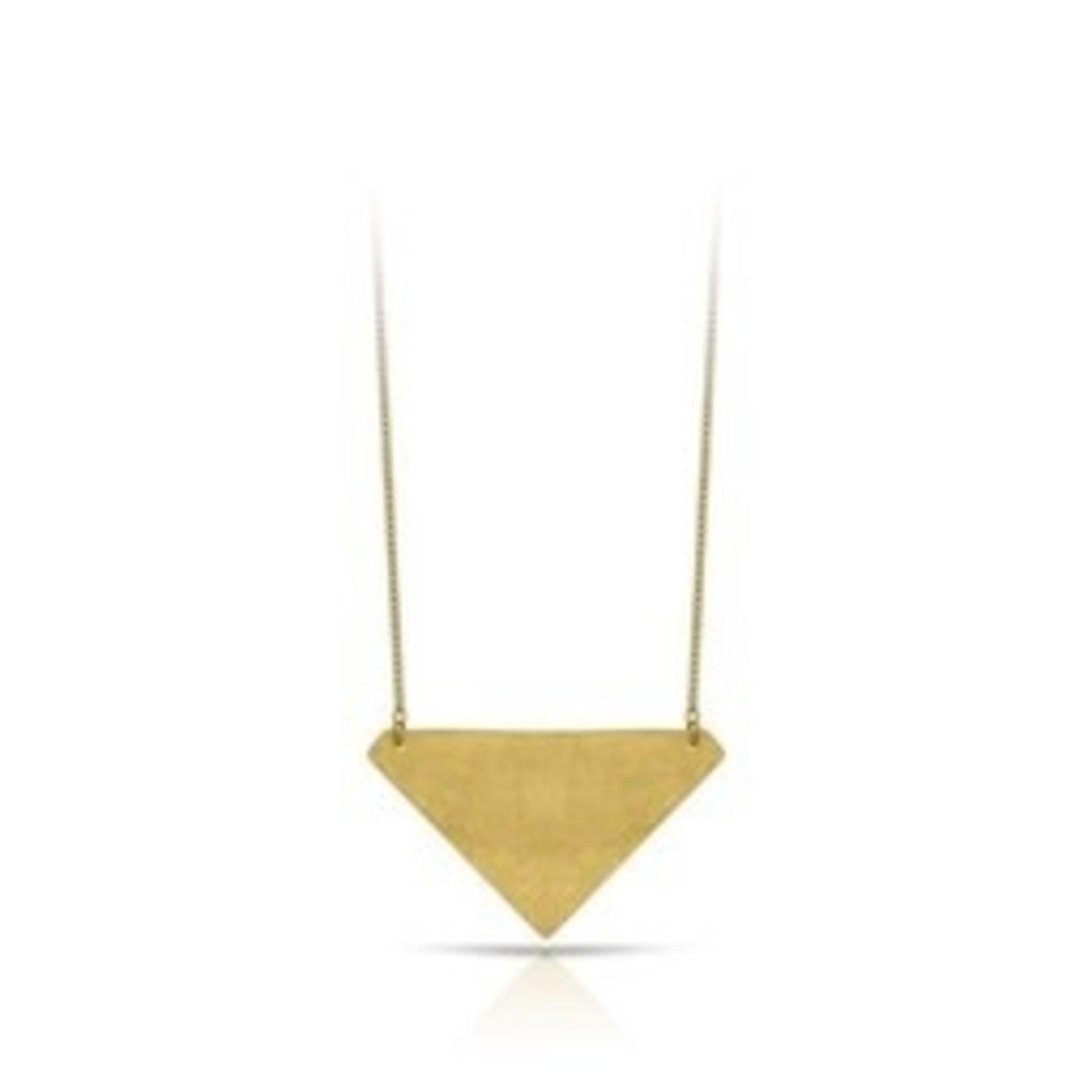 Inimini Homemade Ketting - Brass - Triangle