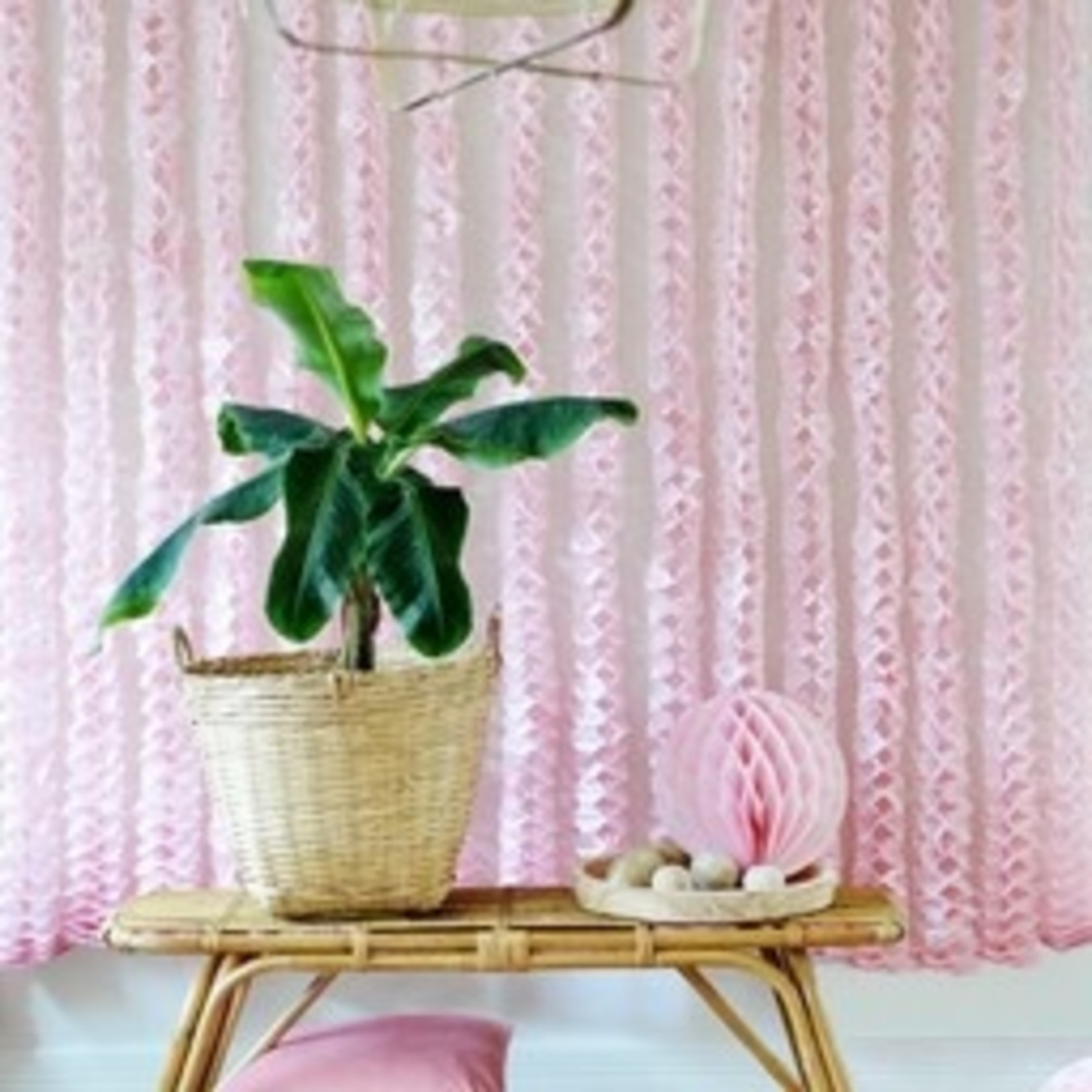 Honeycomb ball - Pink/Fuchsia - Set van 2