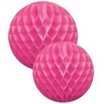 Fuchsia honeycomb ball set