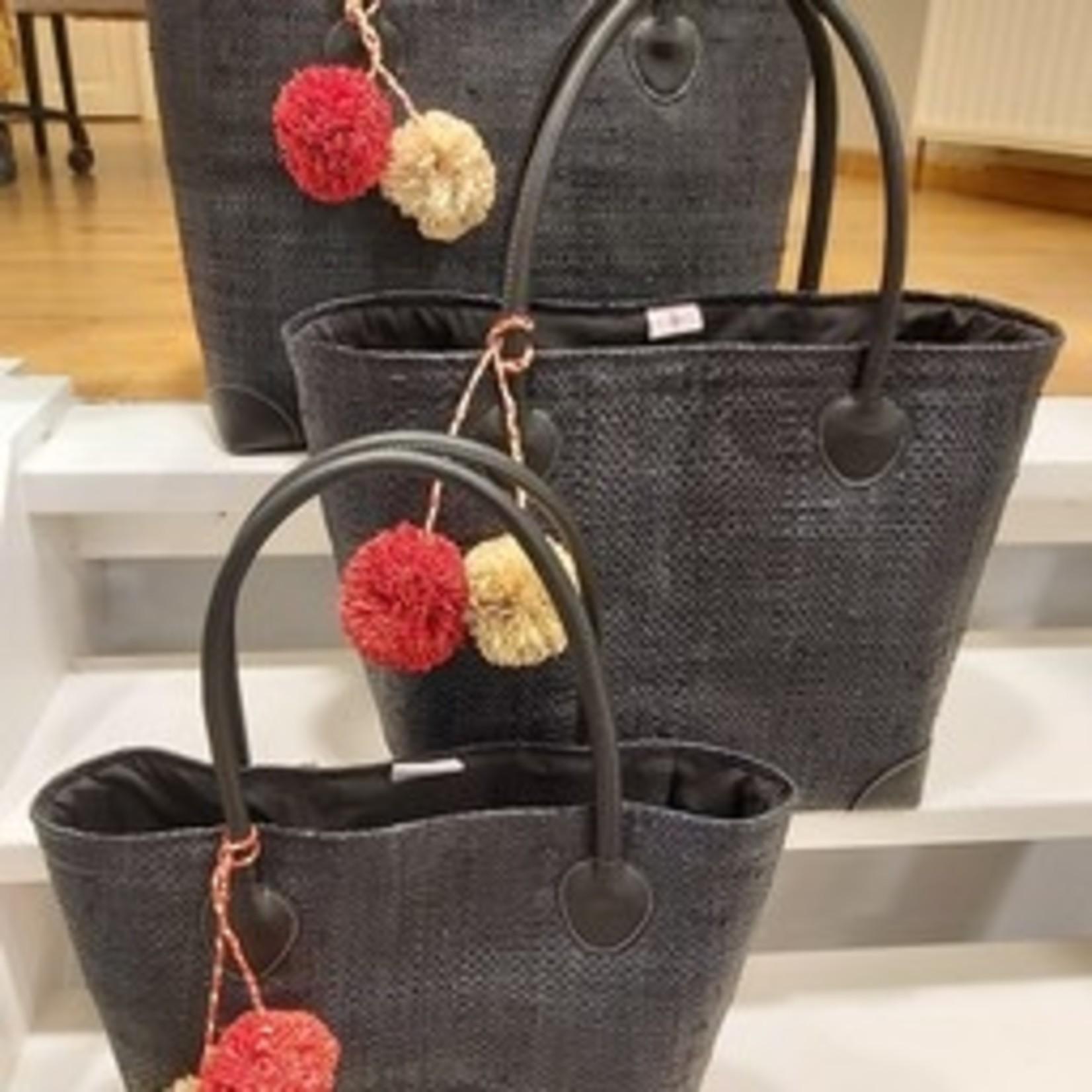 Rieten tas - Zwart