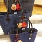 Lolo Deco Rieten tas - Donkerblauw