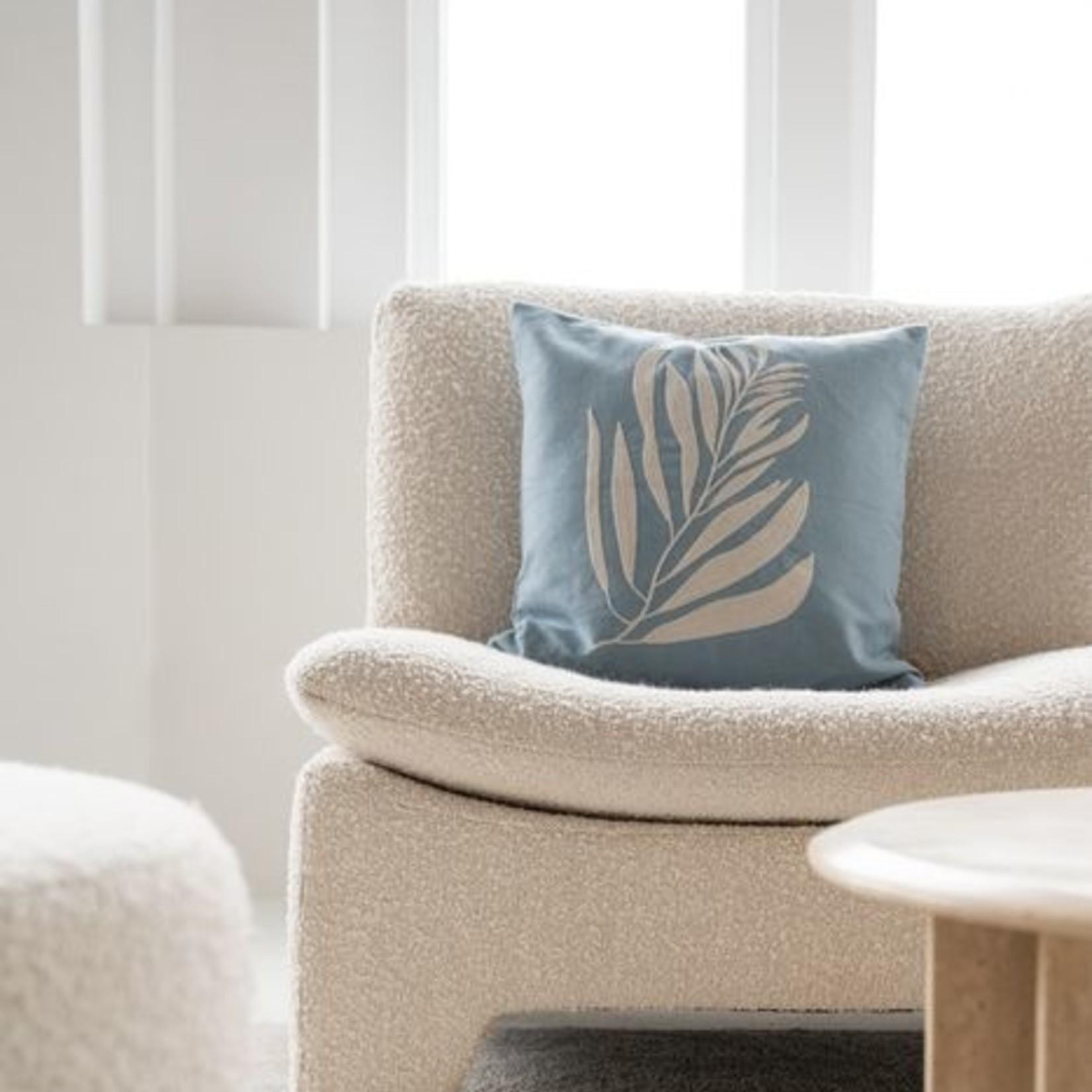 Kussen takje 45x45cm grijs-blauw Zusss