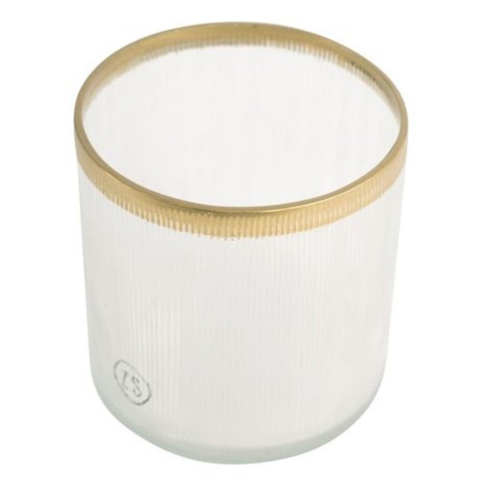 Waxinelichthouder glas goud Zusss